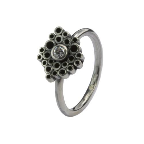 """Sidabrinis žiedas """"Tubes mini"""""""